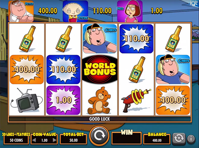 видеослот Family Guy, Bet365, IGT – Family Guy